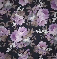 Beautiful seamless vintage floral pattern vector