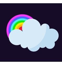 Cloud and rainbow vector
