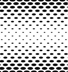 Abstract black and white ellipse pattern vector