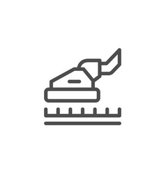 Carpet cleaning line icon vector