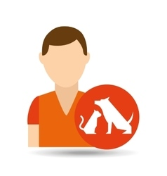 character pet training dog and vector image vector image