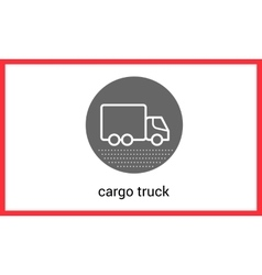 Delivery transport contour outline vector image