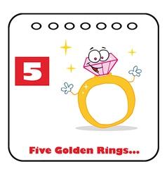 Five golden rings cartoon vector