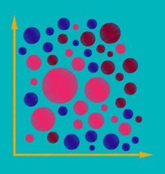 Flat shading style icon geometric chart vector