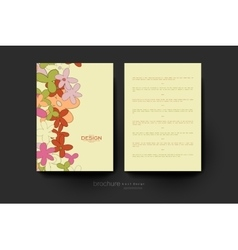 Floral abstract brochure template flyer vector