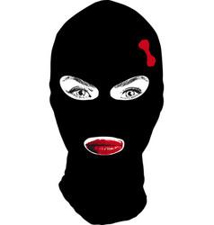 Girl bandit vector
