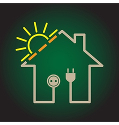 House solar circuit vector image