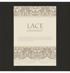 lace ornament background vector image