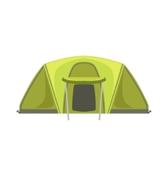Large green bright color tarpaulin tent vector