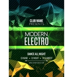 Modern Electro Music Party Template Dance Party vector image vector image