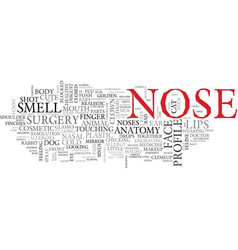 Nose word cloud concept vector