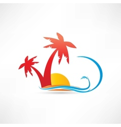 palm rest icon vector image vector image