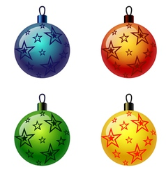 Set of Christmas balls Christbaumschmuck Weihnacht vector image vector image