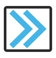 Shift right framed icon vector