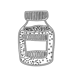 silhouette bottle with salt and pepper vector image