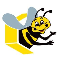 Smiling bee vector