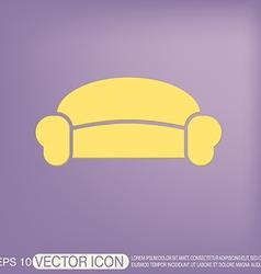sofa icon symbol furniture icon home interior vector image