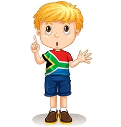 South african boy pointing his finger vector