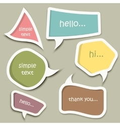 Speech bubble cut paper design template vector