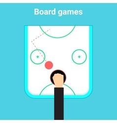 Table game air hockey vector