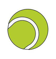Tennis ball design vector