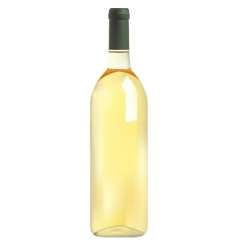 white wine bottle vector image vector image
