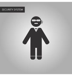 Black and white style male guard vector