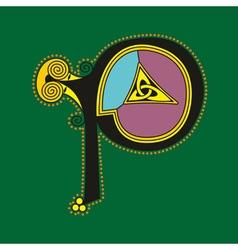 celtic letter P vector image