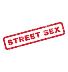 Street sex rubber stamp vector