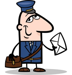 Postman with letter cartoon vector