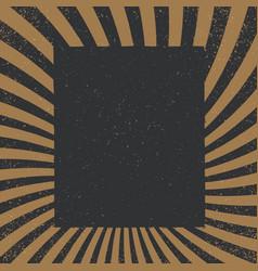 vintage sunburst pattern radial background made vector image