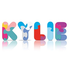 KYLIE written with alphabet puzzle vector image
