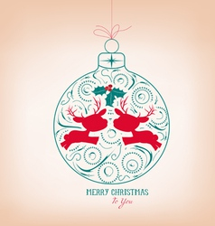 Merry christmas ornament vector