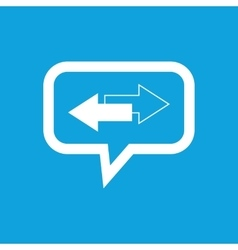 Opposite message icon vector