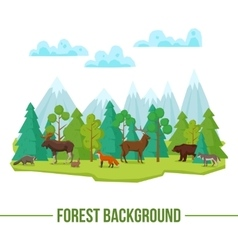 Forest Animals Background vector image
