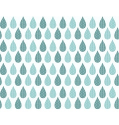 Seamless pattern with ornamental rain drops vector