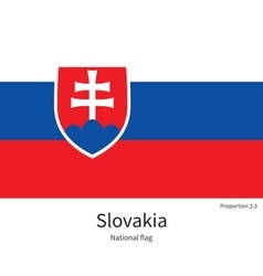 National flag of slovakia with correct proportions vector