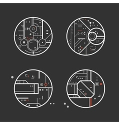 Futuristic design elements vector