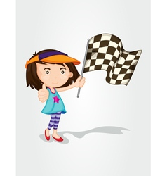 Racing girl vector