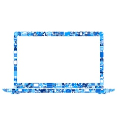 Abstract laptop vector image