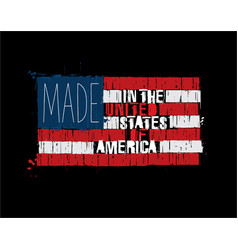 american text flag - made in the usa vector image vector image