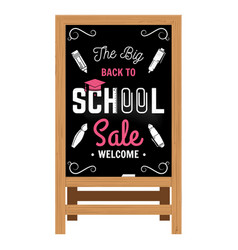 Back to school design wooden announcement board vector