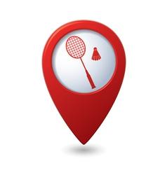 badminton3 REDpointer vector image vector image