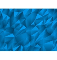 Blue abstract low-poly triangular background vector