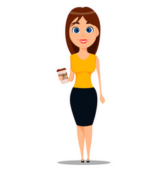 Business woman cartoon character young attractive vector