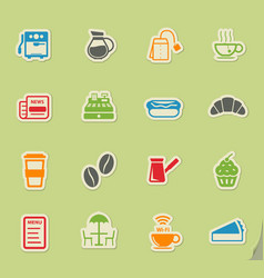Cafe simply icons vector