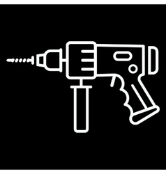 Electric Hammer Drill Icon vector image