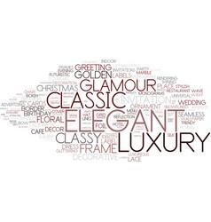 Elegant word cloud concept vector