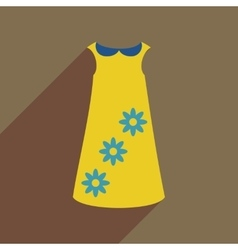 Flat icon with long shadow dress vector