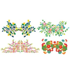 Floral compositions set for holidays vector image vector image